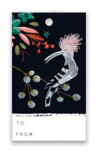 GIFT TAG_hoopoe