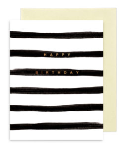 GRE_BLACK STRIPE BIRTHDAY
